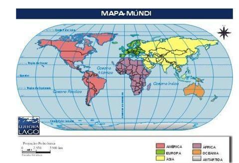 mapa mundi continentes e oceanos Os continentes e oceanos   Paisagens Terrestres   Colégio Web mapa mundi continentes e oceanos