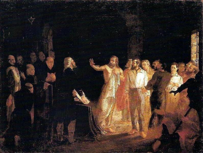 """Leopoldino de Faria  """"Resposta de Tiradentes à comutação da pena de morte dos Inconfidentes"""""""