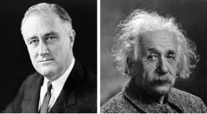 Roosevelt e Einstein
