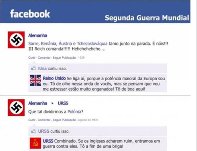 Segunda Guerra no Facebook
