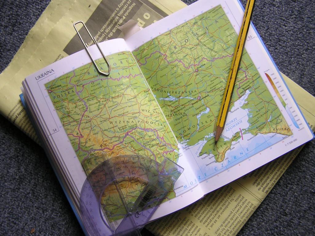 Mapa feito por um cartógrafo