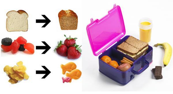 Alimentos saudáveis nas refeições e na hora do lanche