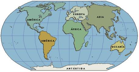 continentes terra