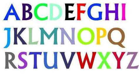 Alfabeto com 26 letras