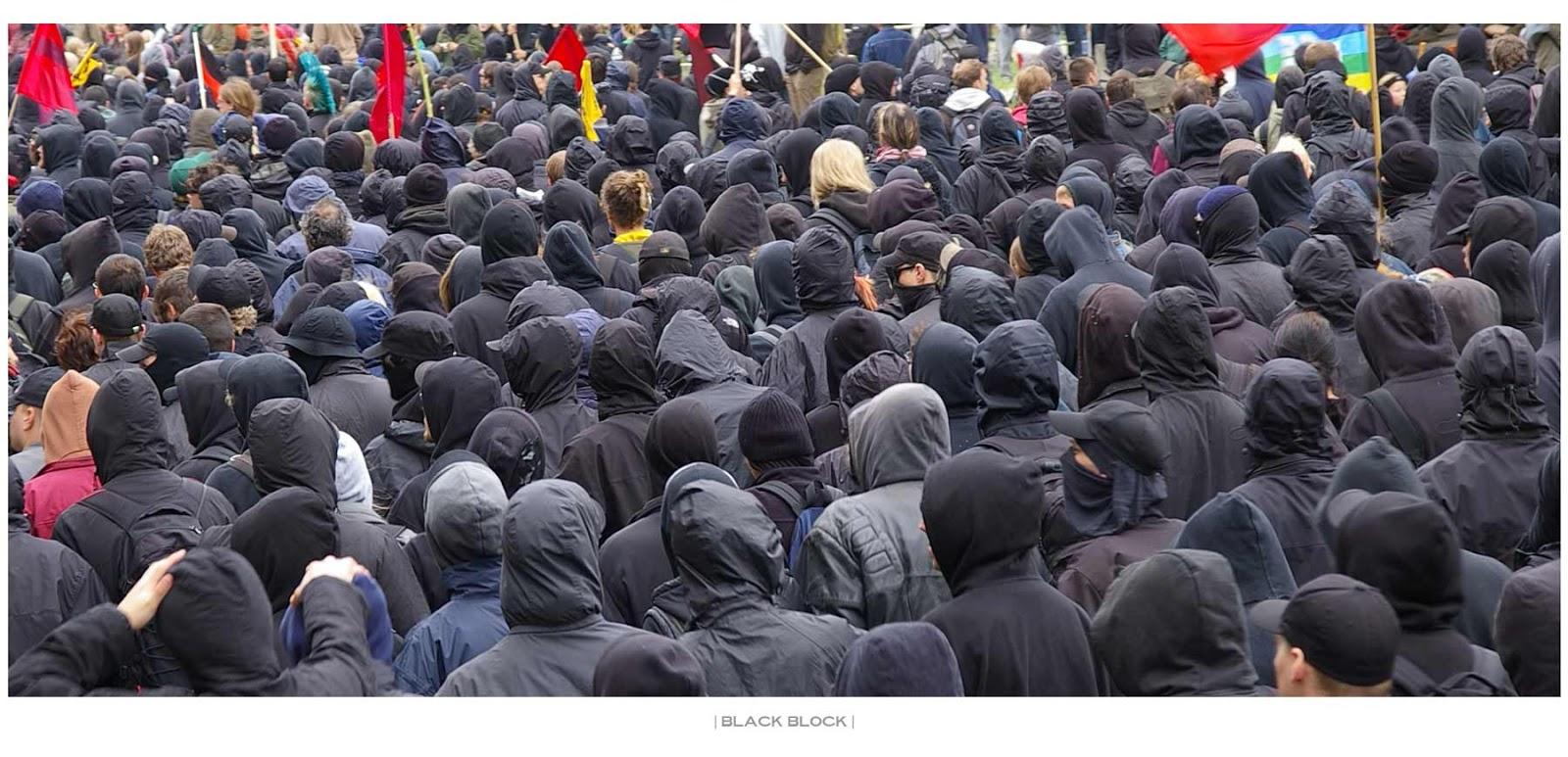 trajes pretos black blocs
