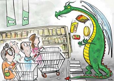 Inflação atinge setor da alimentação