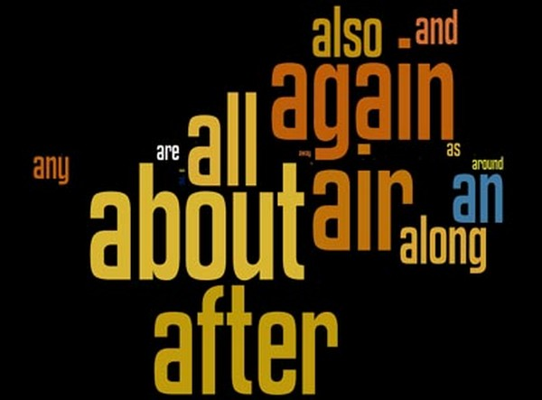 Palavras mais utilizadas na Língua Inglesa