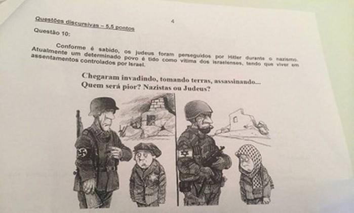 Professor compara nazistas a judeus em prova e é desligado de escola
