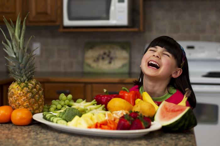 Frutas Crianças