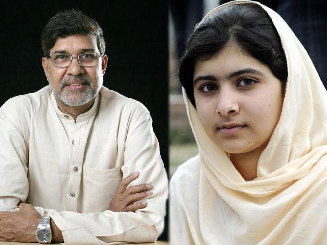 Malala Yousafzay Kailash Satyarthi
