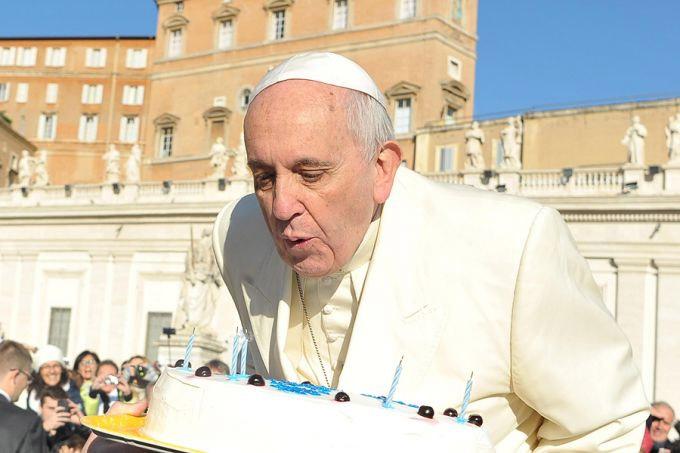 Papa aniversário com festa