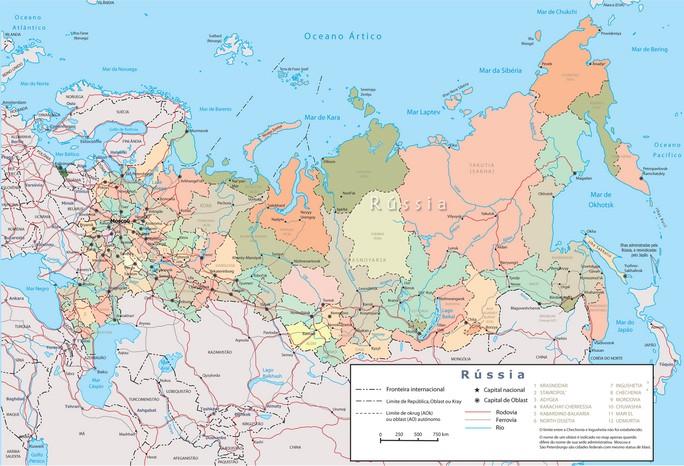 Mapa Rússia