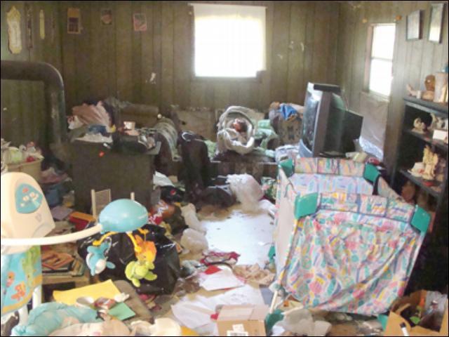 casa bagunçada