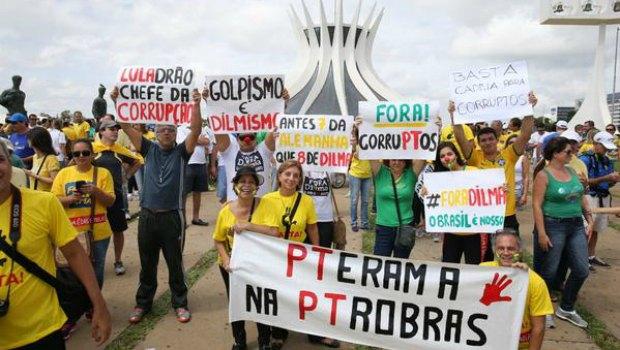 Como foram as manifestações contra o governo pelo Brasil