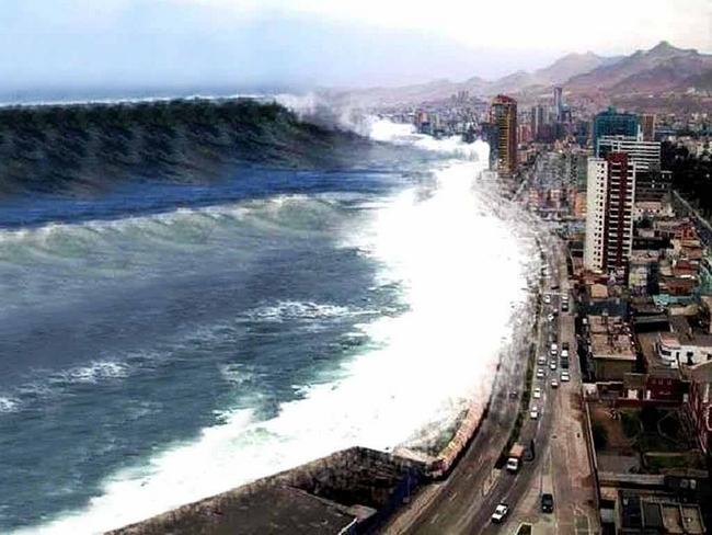 Como se forma um tsunami