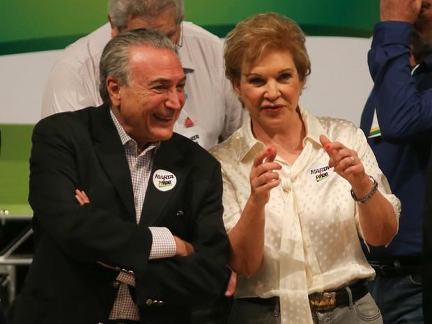 Marta Suplicy é a nova filiada do PMDB