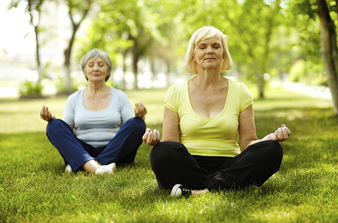 meditação para os idosos