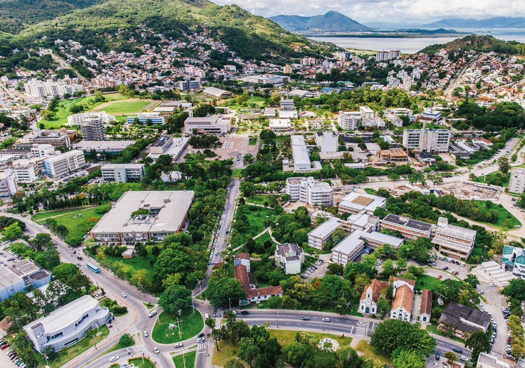 Vista aérea do Campus Florianópolis da UFSC