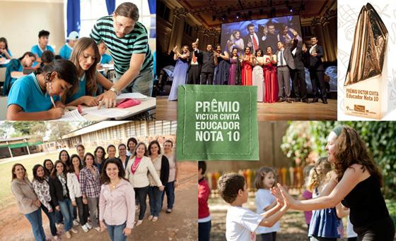 Inscrições abertas para a 19 edição do Prêmio Educador Nota 10