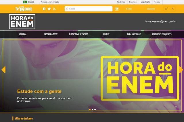 MEC lança plataforma de TV e programa de estudos para ajudar preparação para o ENEM