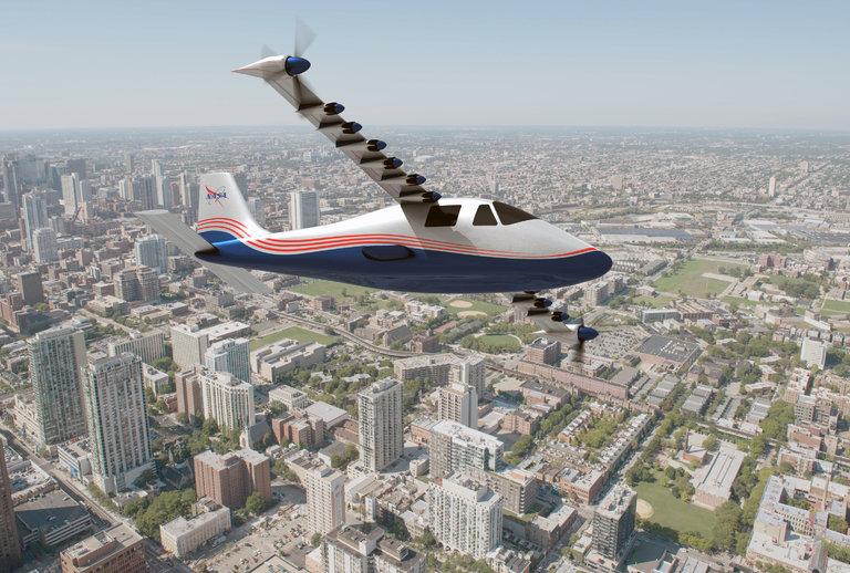 NASA anuncia avião totalmente elétrico