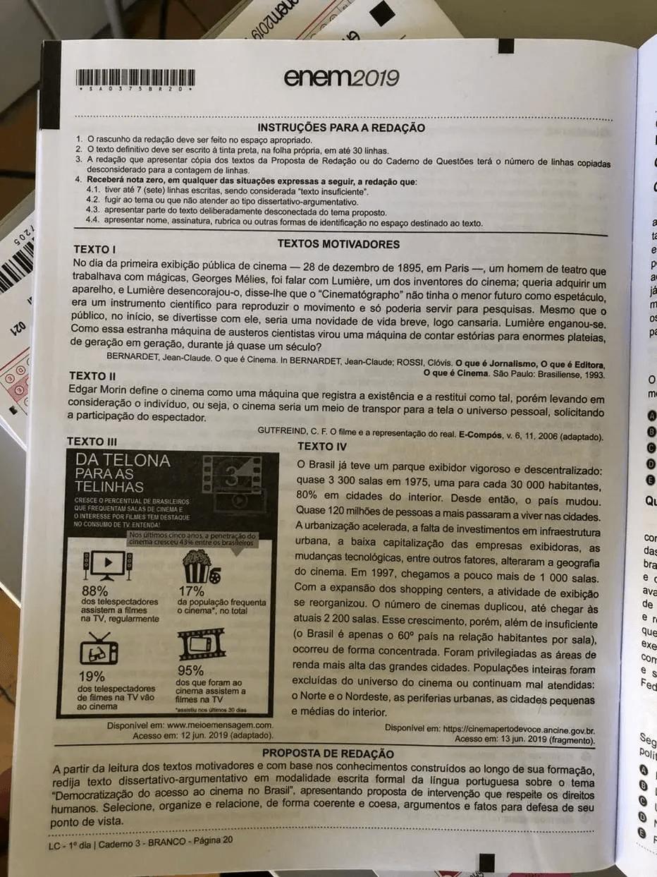1º dia de provas do ENEM registra 23,1% de abstenção