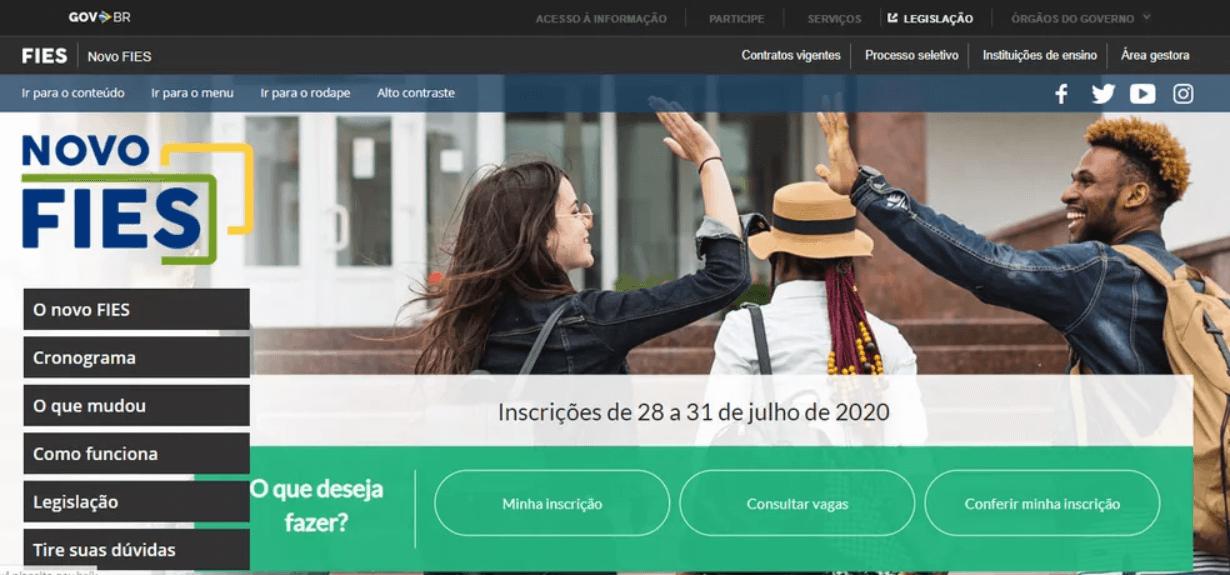 Fies 2020/2 está com inscrições abertas