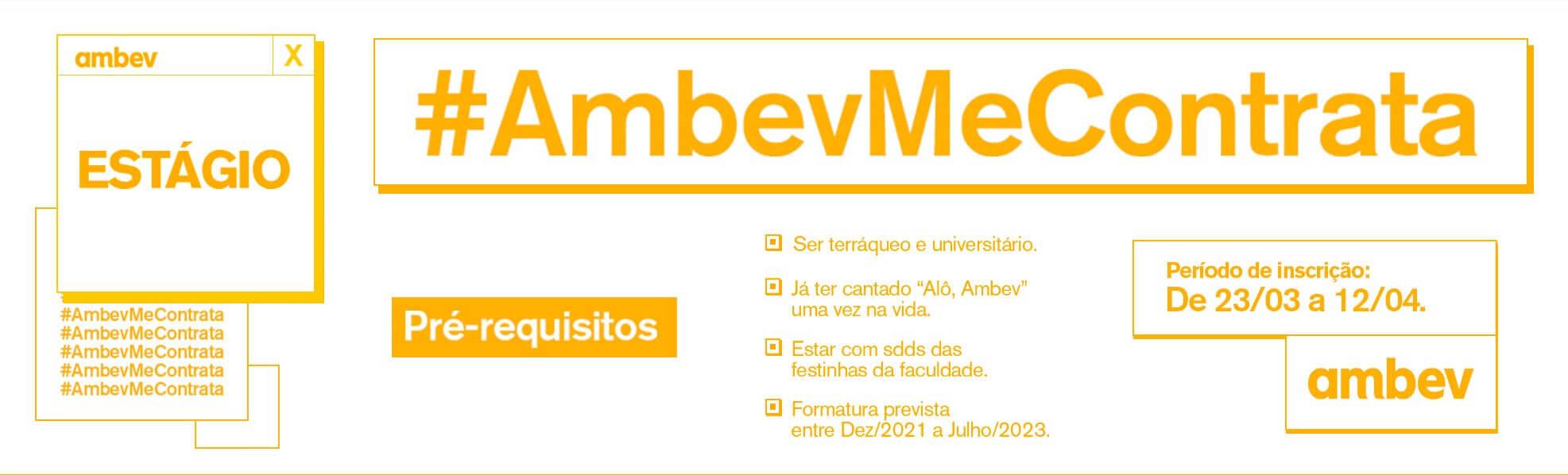 Ambev abre inscrições para programa de estágio