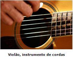 be20a3a72 Nas cordas vibrantes, estão os instrumentos musicais de corda, como por  exemplo, a viola, o violão, o violino, o cavaquinho entre outros.